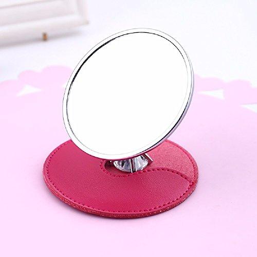 HQLCX Cosmetic mirror, desktop portable creative mirror, portable mirror, luxury circular Princess mirror, mini dressing mirror by HQLCX
