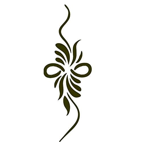 Pinzhi 1 Sheet Of Black Feather Temporary Tattoo Hollow Out Semi-permanent Body Art Tattoo Sticker