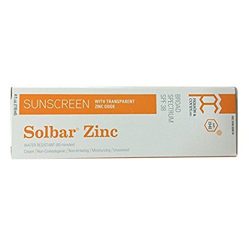 Solbar Sunscreen Zinc with Zinc Oxide Spf 38 Unscented Transparent Cream 4 (The Sun Zinc Sunscreen)