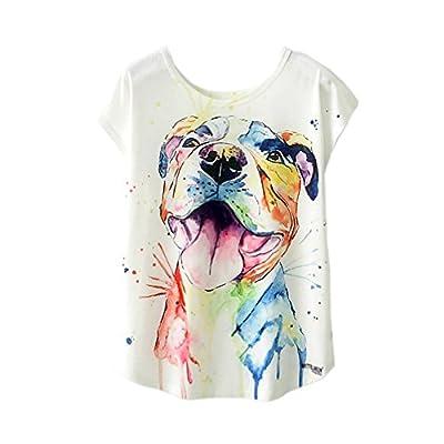 RieKet Womens Fashion Casual T Shirt Juniors Funny Short Sleeves Cute Tops