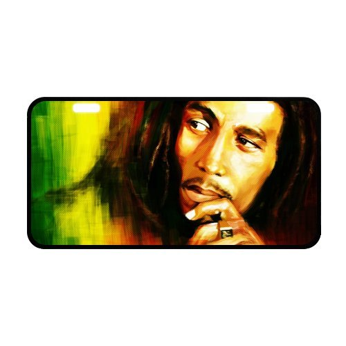 Novelty license plate Bob Marley (Gloss Black Fade Frame)
