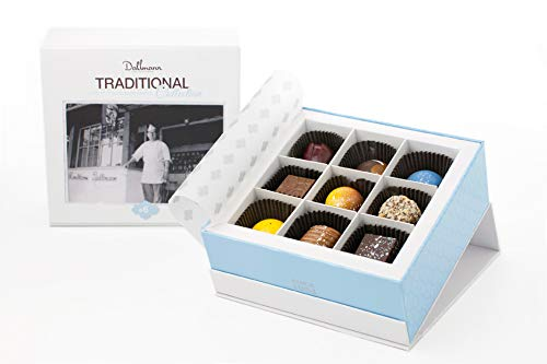 Dallmann Confections Traditional Chocolate Gift Basket |9 pieces Elegant Traditional Chocolate Gift Box for Christmas Holidays, Birthdays, Weddings,Thanksgiving, Halloween or Get Well soon Gifts (9) by Dallmann Confections
