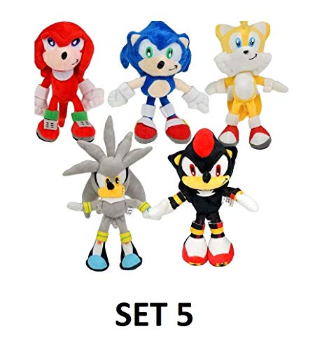 PAPRING Toys 8 inch Shadow Amy Rose Big Soft Plush Huggable Toy Large Stuffed Gift Christmas Halloween Birthday Gifts Cute Doll Animal New Decoration Collection Collectible for Kids Baby (Set 5) -