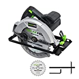 Circular Saw, GALAX PRO 10A 5800RPM Hand-Held Circular Saw Bevel Angle(0-45°) Joint Cuts with 7-1/4Inch Blade, Adjustable Cutting Depth (1-5/8'~2-1/2') for Wood and Logs Cutting-GP76331