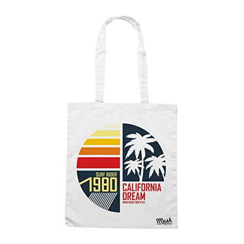 Borsa California Dream Surfrider 1980 - Bianca - Famosi by Mush Dress Your Style