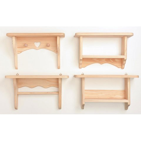 Bulk Buy: Darice DIY Crafts Wood Shelf Pine 4 Assorted Styles 10.5 inches (4-Pack) 9166-49 (Unfinished Wood Shelves compare prices)