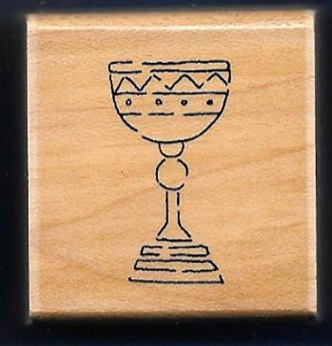Rubber Stamps Ctmh - Rubber Stamp Frames Chalice Cup Kosher Jewish Grape Wine CTMH JRL Rubber Stamp