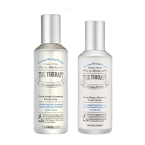 The Face Shop The Therapy HYDRATING Tonic Treatment & Emulsion SET Anti-Aging Formula