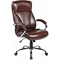 United Seating High back Modern Computer PU Leather, Executive Office Chair, Mocha Brown