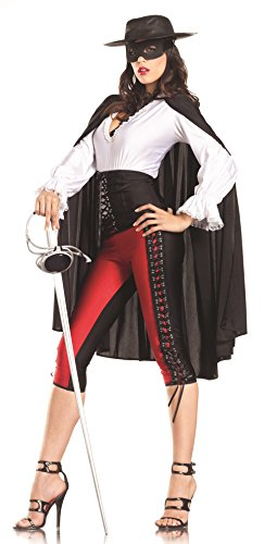 [Be Wicked Sexy Bandit Costume, Red/Black/White, Small/Medium] (Bandit Child Costumes)