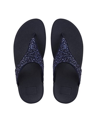 FitFlop Glitterball Post T-Strap Sandales pour Femme Bleu (Midnight Navy 399) 4KwSf