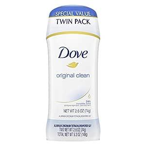 Dove Antiperspirant Deodorant 24-hour Sweat Protection Original Clean Deodorant for Women 2.6 oz, 2 Count