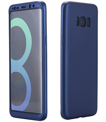 Price comparison product image Galaxy S8 Case, 360 Degree All-around Full Body Slim Fit Lightweight Soft TPU Protective Skin Case Cover for Samsung Galaxy S8 (Navy blue)