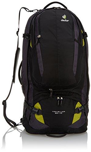 Deuter Herren Trekkingrucksack Traveller, Black-Moss, 79 x 38 x 32 cm, 80+10 Liter, 351021572600
