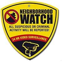 CCTV Reflective Surveillance Camera Warning Sign. Neighborhood Watch Sign 10 X 10
