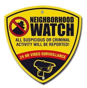 "CCTV Reflective Surveillance Camera Warning Sign. Neighborhood Watch Sign 10"" X 10"""