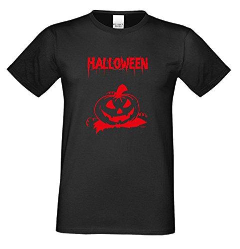 T-Shirt - Halloween Kürbis - gruseliges Motiv Shirt für Leute mit Humor