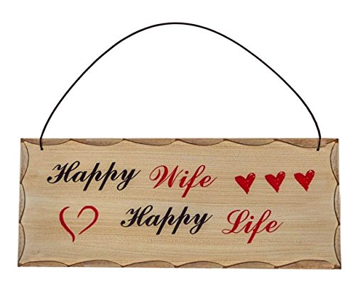 Happy Wife Life Wooden Sign product image