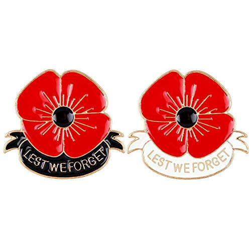 Masn Remembrance Day Memorial Day Gift Poppy Brooch Pins Lest We