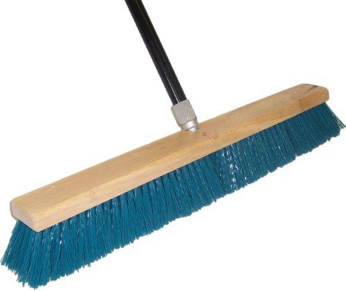 Polypropylene 24-Inch Floor Sweep Push Broom with 60-Inch Handle (Dqb Push Broom)