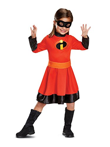 Disguise Violet Classic Toddler Child Costume, Red, Medium/(3T-4T)