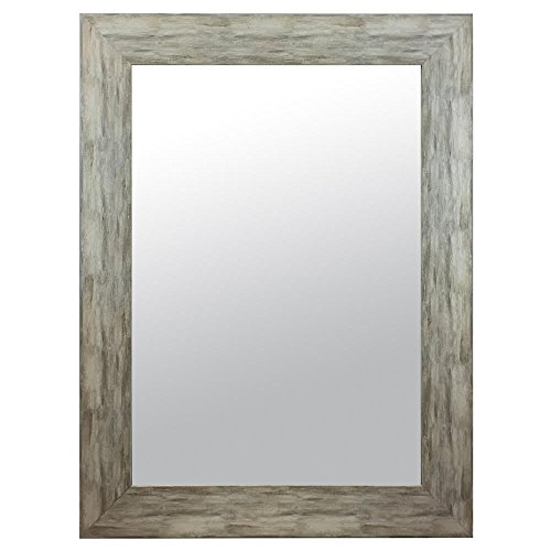 Charming Raphael Rozen Elegant Modern Classic Vintage Rustic Hanging Framed Wall Mounted Mirror Distressed Wood