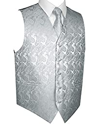 Brand Q Men's Tuxedo Vest, Tie & Pocket Square Set