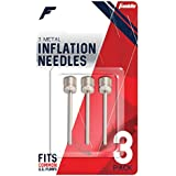 Franklin Sports Metal Inflating Needles - 3 Pack, silver, One Size (3118)
