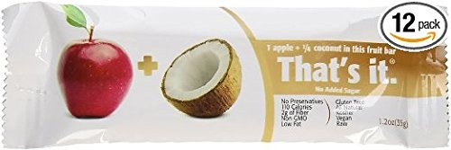 That's it Fruit Bars, Pack of 24 (2 Cases) (Apple And Coconut) by That's it (Image #1)