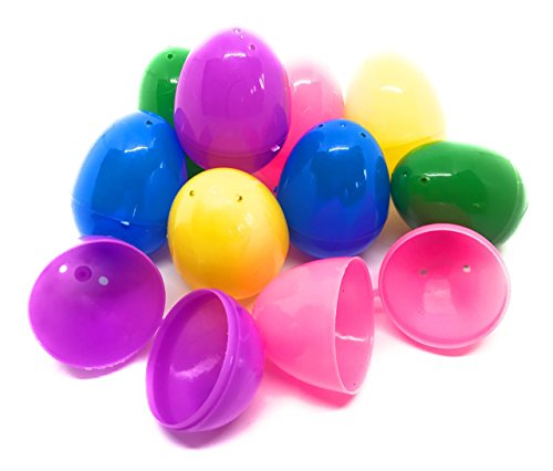 200 x Hinged Plastic Easter Eggs - Bright Colors, Easy Snap