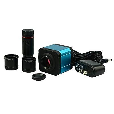 HAYEAR 14MP HDMI 1080P HD USB Digital Industry Microscope Camera TF Card Video Recorder 0.5X C Mount Eyepiece Lens 30mm/30.5mm Adapter