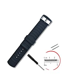 VIMVIP® 22mm / 200mm Sport Silicone Smart Watch Replacement Band with 2 Pins Tool Screwdriver for Samsung R380 R381 R382 LG W110 W150 Asus Zenwatch Pabble Time (Black)