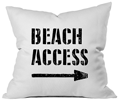 Oh, Susannah Beach Access Throw Pillow Cover - Beach House Decoration - Fits 18x18 Pillow
