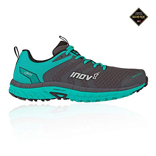 Inov-8 Womens Parkclaw 275 GTX - Waterproof Trail Running Shoes - Wide Toe Box - Versatile Shoe for Road and Light Trails - Grey/Teal 7 W US