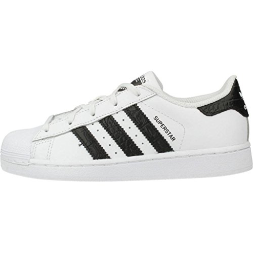 adidas Originals Superstar White/Black Leather Junior Trainers White
