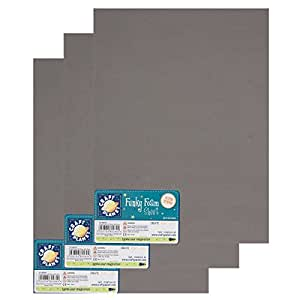 "Craft Planet 9 x 12"" Funky Foam 2mm Thick (Pack of 3) - Grey"