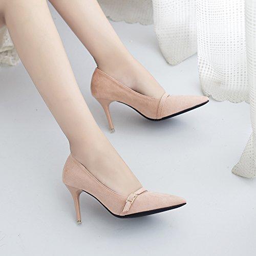 Toda de correspondencia Señaló elegante zapatos 8 la trabajo ocupación Sandalias nude altos 39 Sexy 35 Ajunr tacones de Moda La Transpirable Con Los Multa cm Zapatos OPq65Xfxw