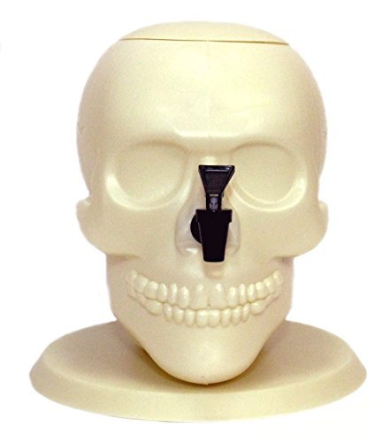 2-gallon Skull Shaped Plastic Drink (Punch For Halloween Party)