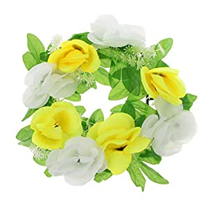 Baoblaze Grave Memorial Flower Silk Flower Wreath for Funeral Cemetery Decoration 45