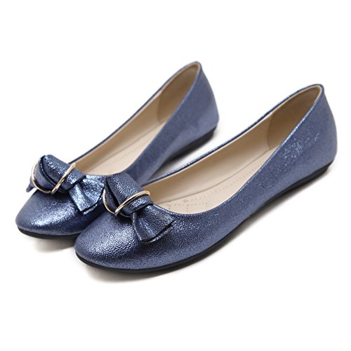 Blue On Slip Comfort Fashion Women's Shoes Flats Ballet Meeshine Dress BXFqzn