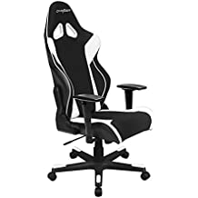 DXRacer Racing Series DOH/RW106/NW Newedge Edition Racing Bucket Seat Office Chair Gaming Chair Automotive Racing Seat Computer Chair eSports Chair Executive Chair Furniture With Pillows (Black/White)