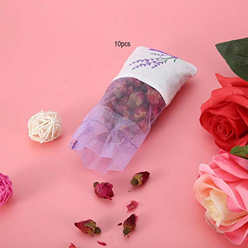 Hanging Flower Pouch 10Pcs Dried Flowers Hanging Aroma Bag Sachet Air Deodorant Wardrobe Aroma Bag Wardrobe Fragrance Sachets by Mehtah Store (Image #4)