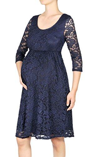 3/4 sleeve lace dress knee length - 3