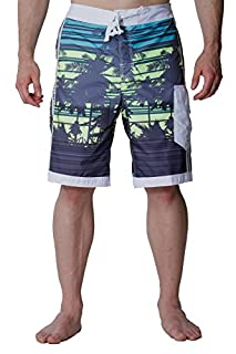 Alki'i Men's Hybrid Boardshorts with mesh Lining - Isla Palms Slate S (B010TXF3GS) | Amazon price tracker / tracking, Amazon price history charts, Amazon price watches, Amazon price drop alerts
