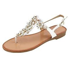c01356800 MuDan Mu Dan Womens Shoe Braided Rhinestone Flat Sandal