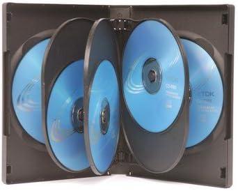 10 estuches para 8 DVD, color negro: Amazon.es: Electrónica
