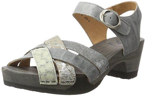 Think! WoMen Zunda Sling Back Sandals, Grey Grey (Elefant/Kombi 17 Elefant/Kombi 17)
