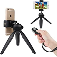 CamKix Bluetooth Camera Shutter Remote Control and Premium Tripod for Smartphones – Create Amazing Photos and Selfies (Premium Tripod + Bluetooth Shutter Remote)