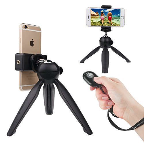 CamKix Bluetooth Camera Shutter Remote Control and Premium Tripod for Smartphones - Create Amazing Photos and Selfies (Premium Tripod + Bluetooth Shutter Remote)