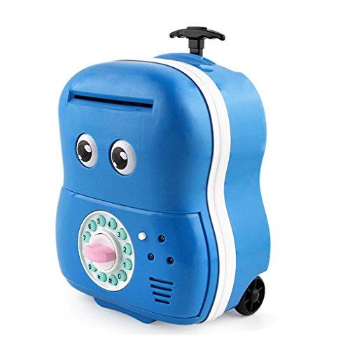 Money Box Cartoon ATM Machine Password Automatic Money Saving Box (blue) (Atm Savings Machine)